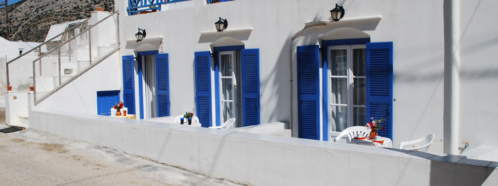 Rooms and studios to let in Kamares of Sifnos